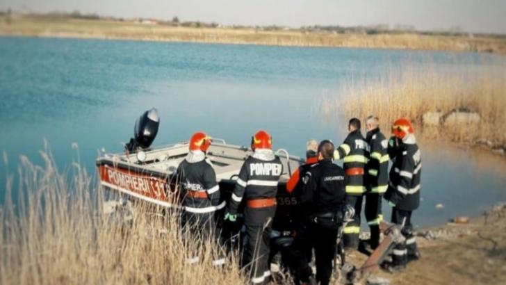 Acțiune de căutare a unui tânăr care s-ar fi înecat la o balastieră din Bolintin Vale