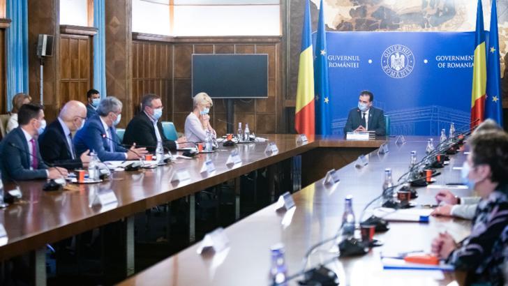 Guvernul Orban se reunește la Palatul Victoria Foto: Guvernul României