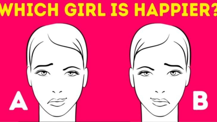 Cel mai solicitant test psihologic. Care dintre cele două fete pare fericită?
