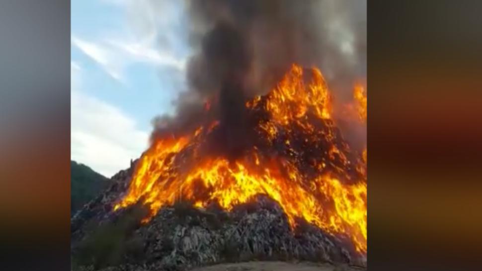 Incendiu la groapa de gunoi a municipiului Sighişoara. A fost emis mesaj Ro-Alert
