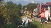 Pacienta cu Covid-19 din ambulanța care a căzut de pe un pod a murit