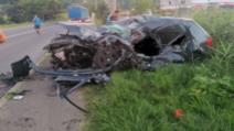 Accident înfiorător, în Mediaș: un mort, după impactul violent cu un TIR