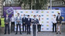 Anunțul candidaților PNL și USR-PLUS pentru București, 1 august 2020 Foto: Inquam Photos/Octav Ganea
