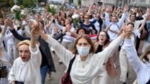 Protestul femeilor pe străzile capitalei Belarus, împotriva lui Lukașenko