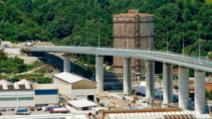 Noul pod San Giorgio din Genova, construit in locul Podului Morandi prăbușit în august 2018