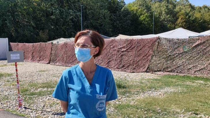 Medicul militar infecționist Simona Ionescu, comandantul Spitalului ROL 2 COVID/Foto: scumc.ro