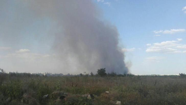 Incendiu de vegetatie în București, s-a emis avertizare Ro-Alert (sursă: Andrei Harro)