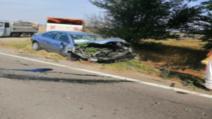 FOTO| Impact nimicitor pe DN4 în județul Călărași. Cinci persoane rănite, a fost chemat elicopterul SMURD