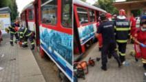 Clipe de groază în Arad: un bărbat a căzut sub tramvai