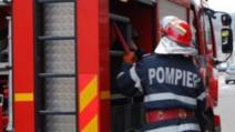 Incendiu la un bloc din Mediaș. Zeci de oameni, evacuați
