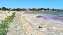 Nivelul Lacului Techirghiol a scăzut cu aproape un metru din cauza secetei Foto: Realitatea de Constanța