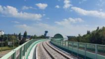 """Calea ferată Gara de Nord- Aeroportul """"Henri Coandă"""", 9 septembrie 2020 Foto: Facebook/CFRInfrastructură"""