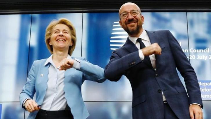 Ursula von der Leyen și Charles Michel. Foto: Facebook
