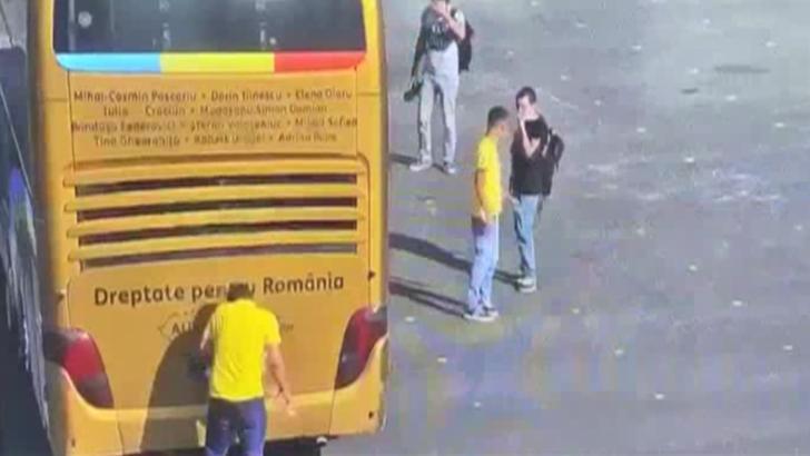 Imagini ULUITOARE: Protestatarul-șef din Piața Victoriei, acțiune ilegală