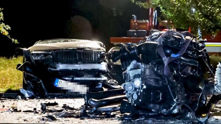 Gest șocant în Germania, un șofer român a murit după ce a lovit, intenționat, un alt autoturism ( Foto: Rosenheim24.de)