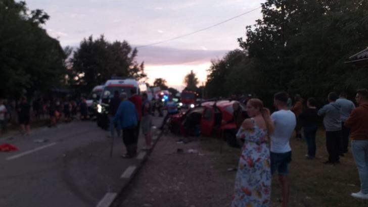 Accident teribil în județul Giurgiu, două persoane, tată și fiu, au murit