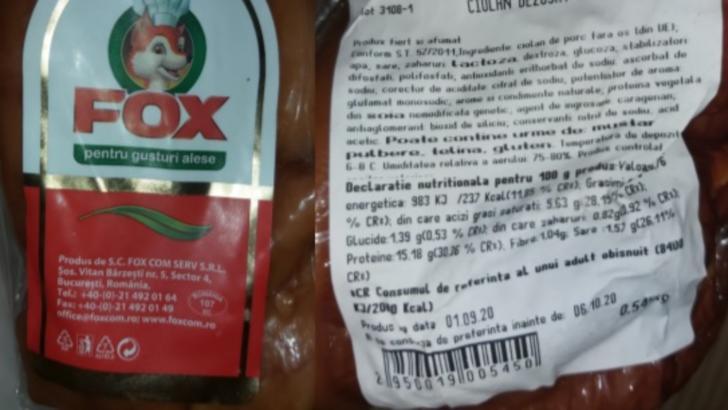 Alertă alimentară, este vizat un tip de CIOLAN AFUMAT distribuit în magazinele Carrefour