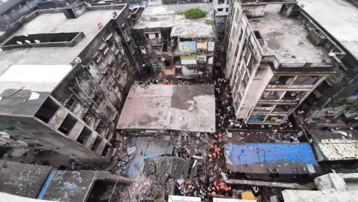 India: 10 oameni au murit, alte zeci sunt dispăruți,, după prăbușirea unei clădiri (sursă foto: Basherkella)