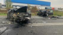 Accident grav, lângă Timișoara: 3 tineri au ajuns la spital, în stare gravă, după un impact frontal