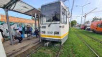 FOTO Accident grav în București, două tramvaie s-au ciocnit forntal, într-un nod de trafic