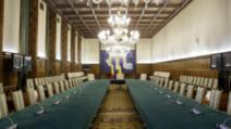 Sala în care au loc ședințele de guvern, Palatul Victoria Foto: Inquam Photos/Octav Ganea
