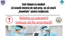 Mesajul sindicaliștilor din Sănătate Foto: Facebook.com/SindicatulPromedica
