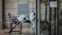 Un suspect de coronavirus este evacuat dintr-un spital din Ierusalim (sursă foto: Flash90)