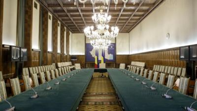 Sala în care au loc ședințele de guvern (Inquam Photos/Octav Ganea)