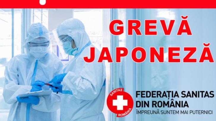 Federaţia SANITAS intră de astăzi în grevă japoneză