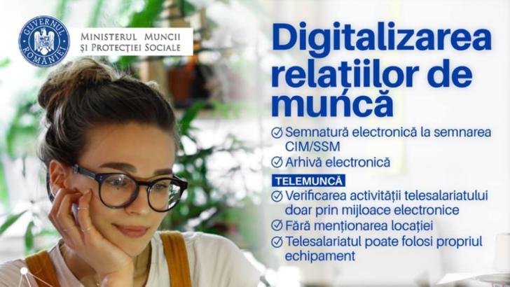 Veste bună pentru români! Ministerul Muncii a finalizat actul normativ privind digitalizarea relațiilor de muncă