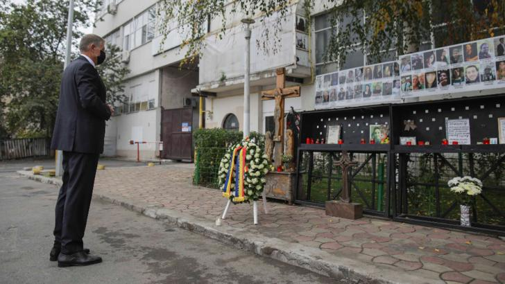 Președintele Klaus Iohannis, moment solemn la COLECTIV!  Cinci ani de la tragedie. Pentru zecile de vieți pierdute nu a plătit... NIMENI / Foto: Inquam Photos, Octav Ganea
