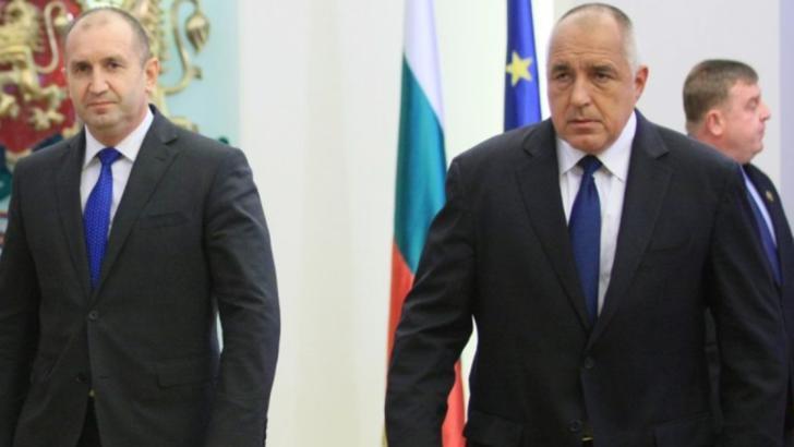 Președintele Bulgariei, Rumen Radev, și premierul Boiko Borisov