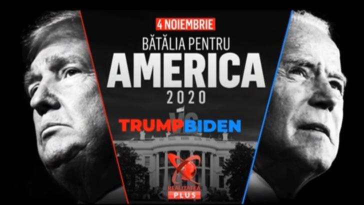 Bătălia pentru America la Realitatea Plus. 4 spre 5 noiembrie: cine va fi al 46-lea președinte, Donald Trump sau Joe Biden?
