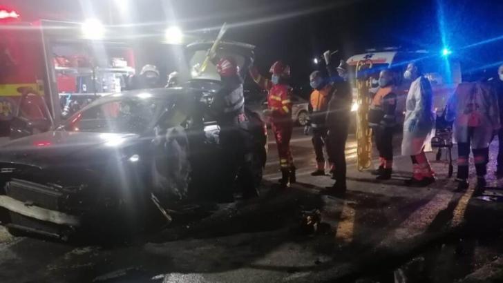 Accident grav, la ieșirea din Slatina: un mort, 4 răniți