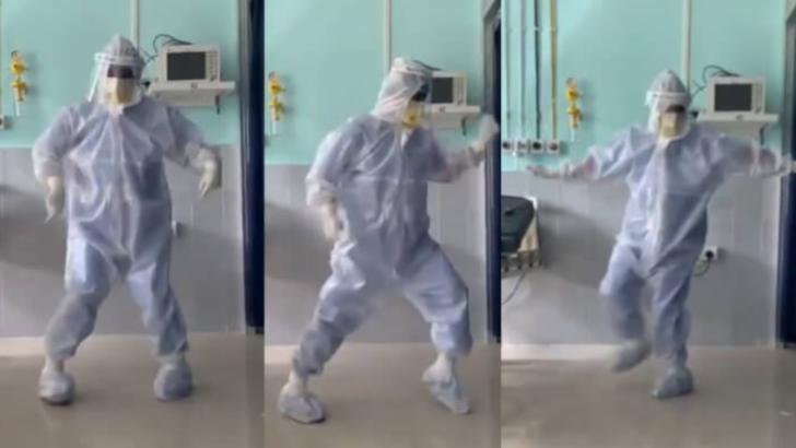 Dansul viral al unui medic indian pentru pacienții săi bolnavi de coronavirus, octombrie 2020