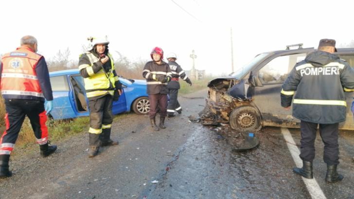 Accident grav, în Bistrița-Năsăud: 3 victime, după un impact catastrofal