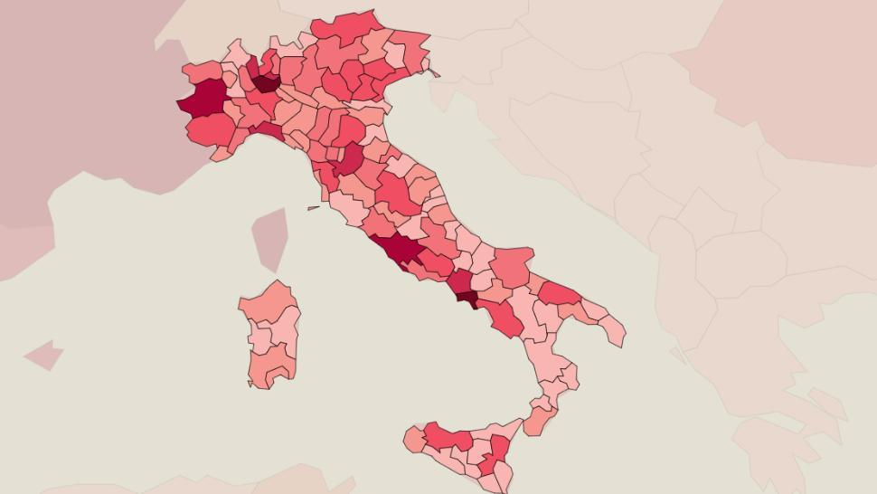 Spirala morții COVID revine în Italia. De la finalul lunii martie nu au mai fost atâtea decese