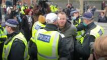 Proteste anti-Covid la Londra. Foto: Ciprian Vîrlan