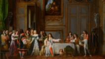 "Un pantof alb din mătase al reginei Maria Antoaneta vândut cu 43.750 de euro/Tabloul ""Moliere honoré par Louis XIV"", evaluat la 75.000 de euro"