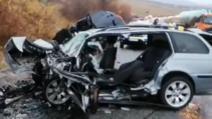 Accident rutier în județul Gorj: un MORT și doi răniți grav după o ciocnire frontală Foto: ImpactinGorj.ro