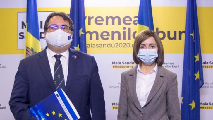 Peter Michalko și Maia Sandu. Foto: Facebook