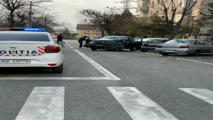 Accident rutier în Craiova. Foto: realitateadeolt.net