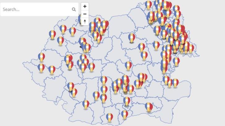 """Guvernul a lansat HARTA interactivă """"România sprijină Republica Moldova"""""""