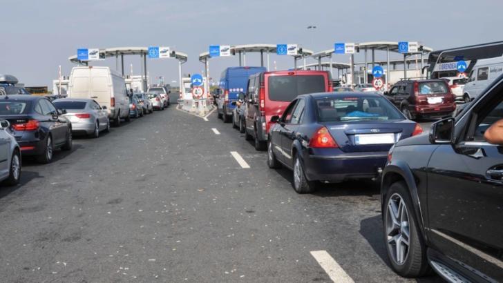 Blocaj la trecerea frontierei din România în Ungaria