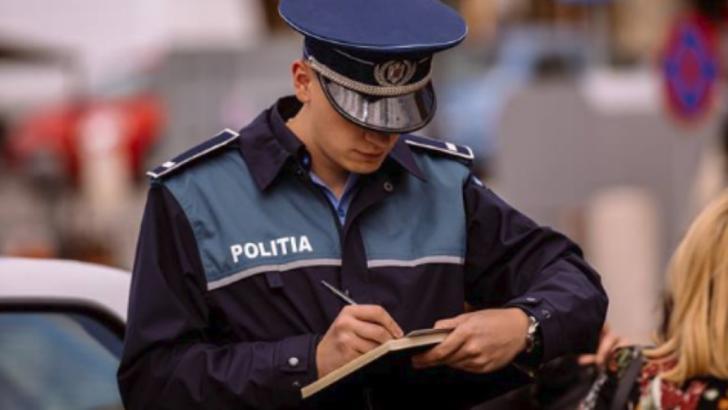 Polițist - imagine cu notă sugestivă