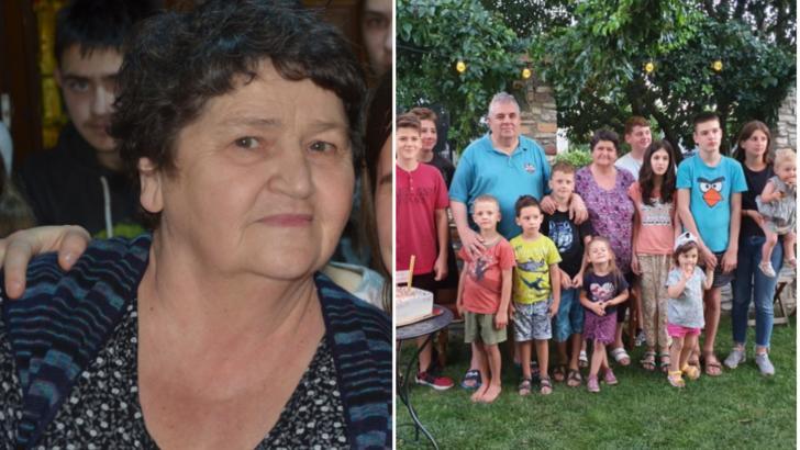 """""""Mama Tatiana"""" (Tatiana Gavril) și familia"""