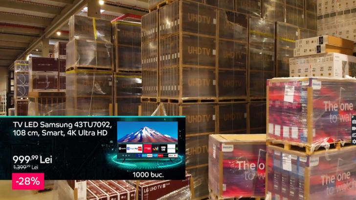 Un televizor Samsung cu diagonala 108 cm, Smart și cu redare 4K este una dintre marile reduceri de la Black Friday 2020 la eMAG