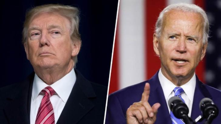 președintele SUA, Donald Trump, republican, și președintele ales al SUA, Joe Biden, democrat