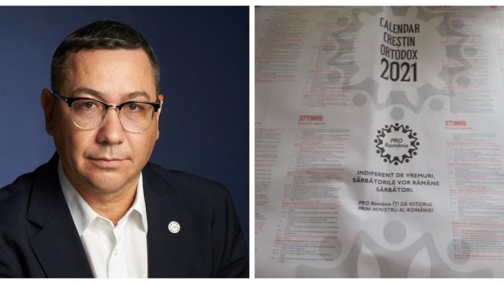 Ponta, prins că-și face campanie cu calendare ortodoxe. Reacția fermă a Patriarhiei