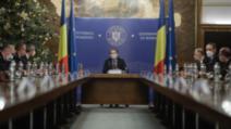 Prima întâlnire oficială a miniștrilor Guvernului de coaliție condus de liberalul Florin Cîțu, la Palatul Victoria, 23 decembrie 2020 Foto: Inquam Photos / George Calin